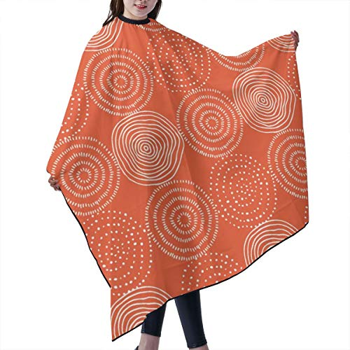 Barber Cape,Orange Tree Rings Woodland Critters Coordinate Salon Polyester Cape Haircut Apron 55
