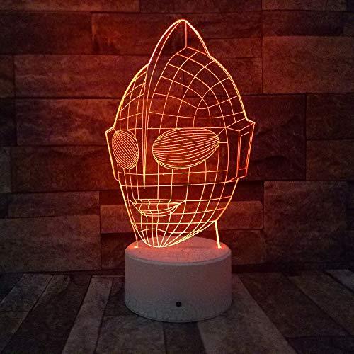 Anime Maske 3D Illusion LED Nachtlicht 7 Farben Allmählich Ändern Touch Schalter USB Tischlampe Für Weihnachtsgeschenke Hauptdekorationen han-10244