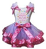 Petitebelle Schönstes Mom weißes Hemd Dot Pink Petal Rock Nb-8J 4-5 Jahre Lila