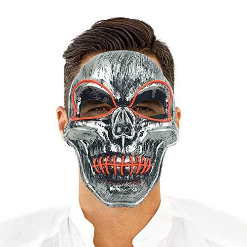 Glow mask led el mask maschera spaventosa di halloween rave costumi di halloween