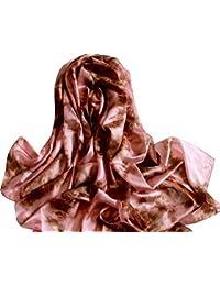 LadyMYP 180cm*110cm Hochwertig Seidenschal Stola mit einfabiger Hell-Dunkel Mischung aus 100% Seide mehr Farbig