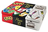 Mattel Games FFK01 Kartenspiel Klassiker in Metalldose: UNO, Phase 10, Snappy...