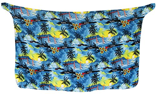 Resort Knoten Sarong / eingebaute Binder Vertuschung Bademode Bikini Badeanzug Badeanzug Blau