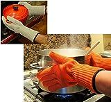 Lange Handgelenkschützer Hitzebeständige Handschuhe (1Paar) – Halten sie heißes, selbst BRENNENDheißes Geschirr sicher!