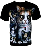 Rock Chang T-Shirt * Chatons Doux * Sweet Cats * Noir R717