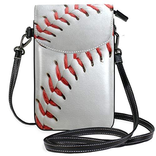 ZZKKO Baseball-Softball Mini Umhängetasche Handtasche Handtasche Leder für Frauen Casual Reisen Wandern Camping