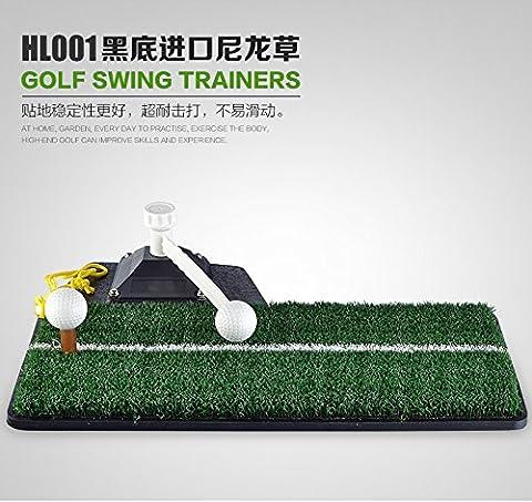 adahill (TM) Indoor Golf Trainingsgerät Swing Exerciser Pad, Style B Black