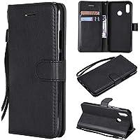 Artfeel Flip Brieftasche Hülle für Huawei P20 Lite, Premium PU Leder Handyhülle mit Kartenhalter,Retro Bookstyle Stand Abdeckung mit Magnetverschluss Handschlaufe Hülle-Schwarz