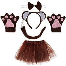Prettyia 5 Piezas Colección de Disfraces Cumpleaños de Chicos Diseño Mono para Mujer Chica Traje Animales