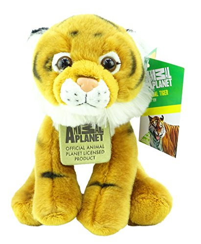 Animal Planet Wild Cats - Jouet en peluche souple de tigre de Bengal de 17cm