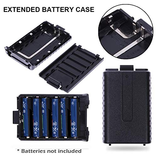 Batterie-Organizer Batterie-Box C-6 AAA Extended Battery Case Storage Box für Baofeng UV5R 5RA B C D 5RE Plus Two Way Radio