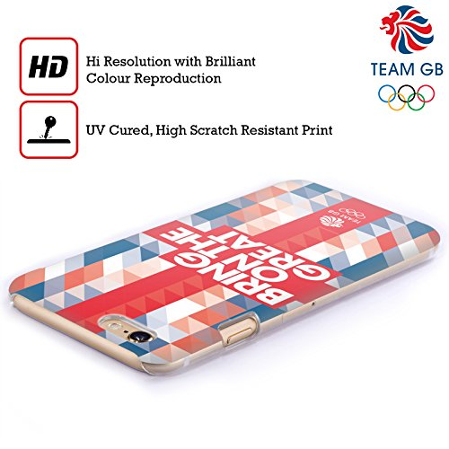 Official Team GB British Olympic Association Union Jack Bring On The Great Hard Back Case for Apple iPhone X Geometric Union Jack