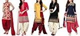 Maxthon Fashion Women's Printed Unstitched Regular Wear Salwar Suit Dress Material (Combo pack of 5)(Max_Combo_7089)(Max_3046_Red)(Max_3032_Red)(Max_3047_Yellow)(Max_3029_Black)(Max_3001_Blue)