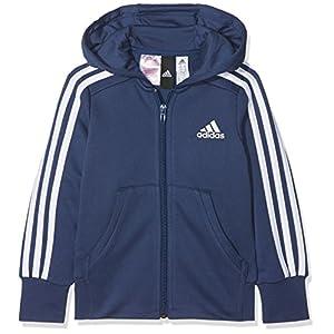 adidas Mädchen Yg 3s Fz Hd Sweatshirt
