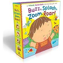 Buzz, Splash, Zoom, Roar!: 4-book Karen Katz Lift-the-Flap Gift Set: Buzz, Buzz, Baby!; Splish, Splash, Baby!; Zoom, Zoom, Baby!; Roar, Roar, Baby!