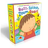 Best Baby Book Sets - Buzz, Splash, Zoom, Roar!: 4-book Karen Katz Lift-the-Flap Review