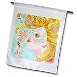 3dRose FL_78675_1 Meerjungfrau mit fließendem Haar, weich, Pastellfarben, 30,5 x 45,7 cm