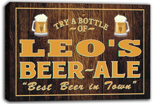scpn1-0168-leos-home-bar-beer-ale-pub-stretched-canvas-print-sign