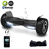"EverCross Basic 8,5"" Elektro Scooter Self Balance Board SUV APP Elektro Scooter E-Balance E-Skateboard Elektroroller (Black-D)"