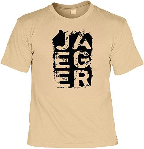 Spaß/Fun-Shirt mit witzigem Aufdruck: JAEGER - lustiges Geschenk Sand