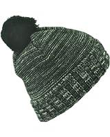 Mens/Ladies Acrylic Turn-up Beanie Hats With Pom Poms, Headwear