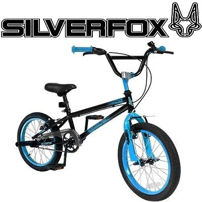 "SilverFox BMX Plank 18"" Bike - Black and Blue - Boys - New Model"