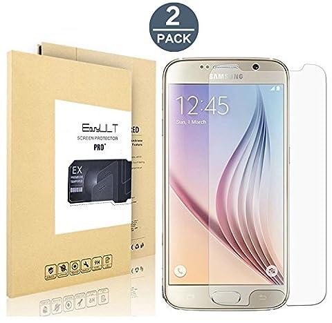 [2 Pack]Samsung Galaxy S6 verre trempé,EasyULT Samsung Galaxy S6 Verre Trempé Protecteur d'écran Protection Résistant aux éraflures Glass Screen Protector Vitre Tempered(0,26mm HD Ultra