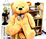 Golden Brown 3.5 Feet Bow Teddy Bear