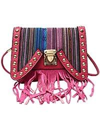 Hawai Multicolor Striped Small Pu Sling Bag