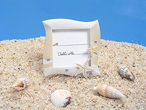 Place Card Frame Beach Theme In Sand Colors by Cassiani Collection