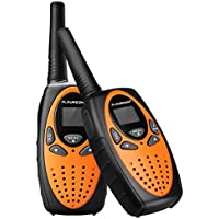 FLOUREON PMR Funkgerät 8 Kanäle Walkie Talkies 2-Wege Radio Walki Talki Funkhandy Interphone mit LCD Display Orange