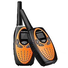 Idea Regalo - FLOUREON Ricetrasmittente PMR Radio Ricetrasmittenti 8 Canali Walkie Talkies per Bambini 2 Way Radio, Arancia