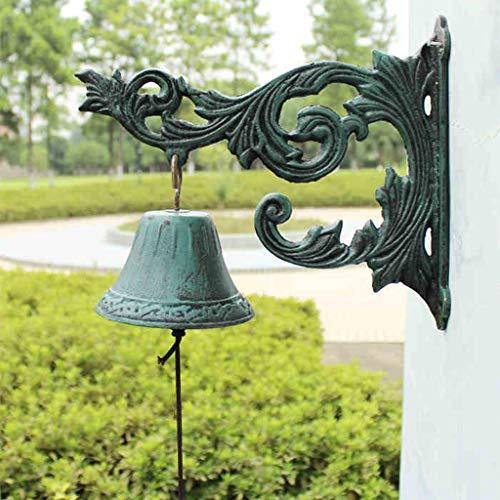 Cq stile classico creativo in ferro battuto campana campanello in ghisa campanello villa bell grande foglia di fiore