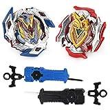 Lavendei 2 Stück 4D Fusion Modell Metall Masters Speed Kreisel | Kampfkreisel mit Launcher | Beste Geschenk für Kinder, Jugendliche und Erwachsene (B-104+B-105)