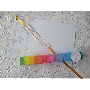 Einladung im Reagenzglas zur Kommunion Regenbogen
