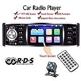 GOFORJUMP Autoradio Autoradio 1 DIN 12v 4.1 Touch Screen Auto Audio Mirror Link RDS Bluetooth Rear View Camera Car Stereo