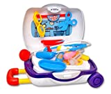 #9: Toyshine Briefcase Cum Trolley Doctor Set, Pretend Play Set Toy, Blue