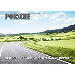 Vehicle Service & Maintenance Record: Porsche - Bespoke, personalised books. Contact us if you would like your own image, name or other text on a book