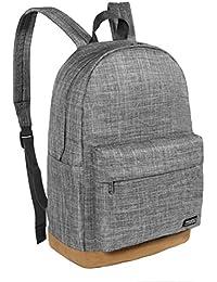 5824c13cc56e Thikin Preppy School Backpack Laptop Rucksack Grey Book Bag Simple Casual  Daypacks for Teen Boys Girls