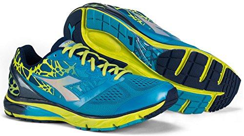 Diadora - Zapatillas running Mythos BlueShield C6052 (color azul marino clásico/azul fluorescente)
