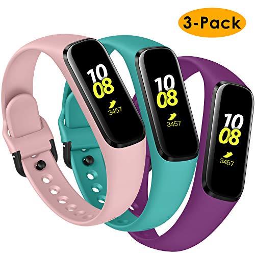 KIMILAR Armbänder Kompatibel mit Samsung Galaxy Fit E Armband Silikon (Nicht für Samsung Galaxy Fit) [3 Pack], Ersatzband Uhrenarmband für Galaxy Fit E 2019 Smartwatch -Blaugrün/Pflaume/Rosa