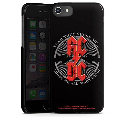 Apple iPhone 5c Silikon Hülle Case Schutzhülle ACDC All night long Merchandise Fanartikel Hard Case schwarz