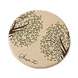 Frische Art Runde Stuhl Bar Kissen Abnehmbare Pads (36 x 36 x 3 cm)