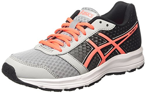 Asics Patriot 8 Damen Laufschuhe Grau (silver grey/flash coral/black 9606)