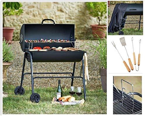 Generic BQ affûter Chariot Coque ustensile Arcoal Barre Barbecue Grill Chariot de l Huile de COV Drum Corps Barbecue GR BBQ en Acier Rrel BBQ affûter Barbecue Charbon de Bois REL Barbecue en Acier
