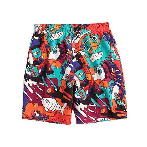 LAPLBEKE Niños Bañadores Pantalones Cortos de Surf - Niñas Trajes de Baño Impresión de Dibujos...