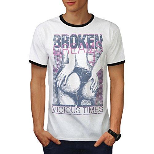Mädchen Hintern Träume Sexy Zeit Gammler Herren M Ringer T-shirt | Wellcoda (T-shirt Zeit Garage)