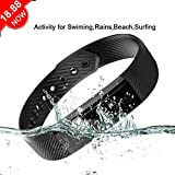 Teamyo ID115 Fitness Tracker Activity Tracker Monitor Impermeabile Waterresiatance Multi-point Mini Timer Automatico Passi del Sonno Smart Wristband for IOS / Andriod Huawei P9 Lite Huawei P8 Lite Samsung iPhone 7 7 Plus iPhone 6 (Nero)