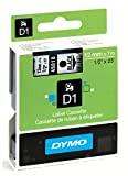 Dymo D1 Standard Self-Adhesive Labels for LabelManager Printers, 12 mm x 7 m - Black Print on Clear