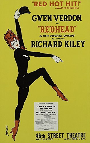 poster-redhead-broadway-musical-leinwand-